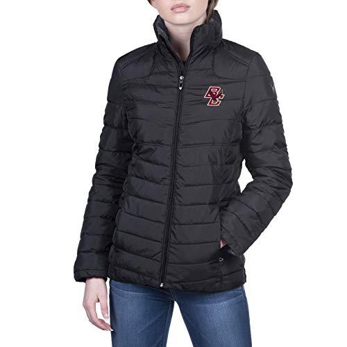 Spyder Damen Jacke Supreme Gameday Puffer Full Zip, Damen, Full Zip Supreme Gameday Puffer Jacket, Boston College Eagles Schwarz, Medium