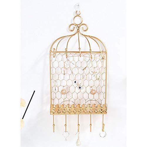 Affichage de bijoux multifonctions Porte-bijoux en fer forgé Porte-bijoux pour boucles d