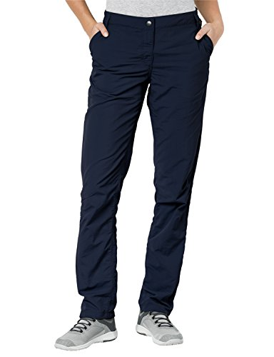 Jack Wolfskin Herren Kalahari Pants Women UV-Schutz Outdoor Schnelltrocknend Alltags, Reisehose Hose, Midnight Blue, 38