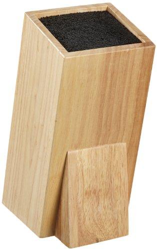 Esmeyer Wonder - Ceppo portacoltelli Universale Wonder, in Legno della Gomma, Dimensioni: ca. 11 x 11 x 25 cm