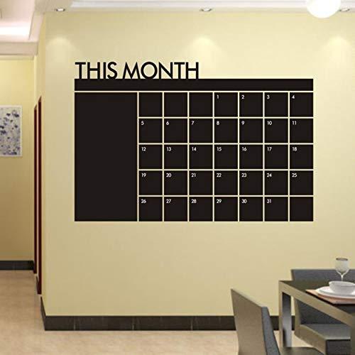 Wandaufkleber Super Deal 2015 Wohnkultur Wandtattoos Monat Plan Kalender Tafel Vinyl Wanddekoration Vinilos Paredes Hym02