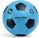 Chastep 7' Foam Football Indoor/Outdoor Perfect for Kids or Beginner Play and Exercise Soft Kick & Safe (Blue Black)