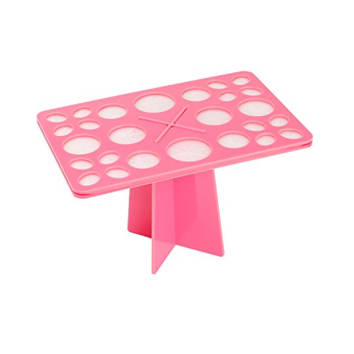 Docolor 26 Mix Size Makeup Brush Holder Air Drying Organizer Tools-Pink