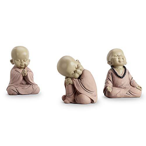 Juego de 3 monjes budistas, Sitting Buddhist, Una talla