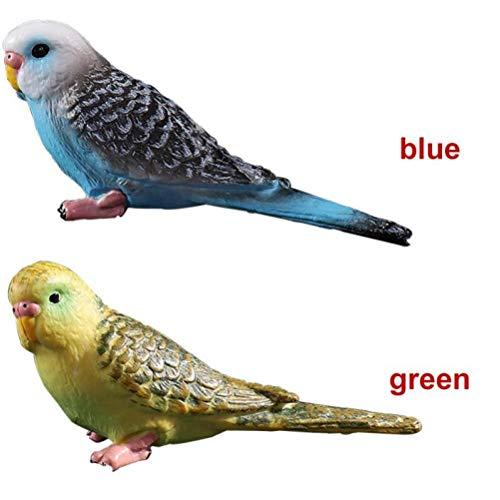 Zonster Simulación de 2PCs Mini Loro pájaro acción Figura de plástico Modelo Animal de Hadas decoración del jardín figurita