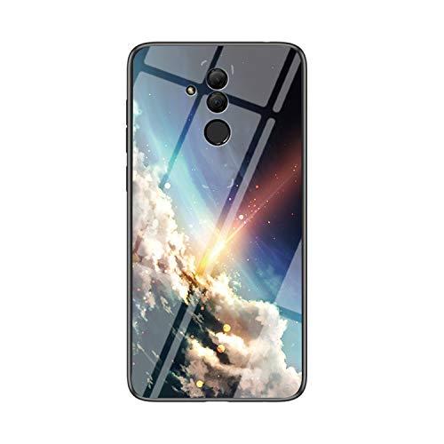 IVY Vidro Temperado Céu Estrelado Capa Case para Huawei Mate 20 Lite Case - B