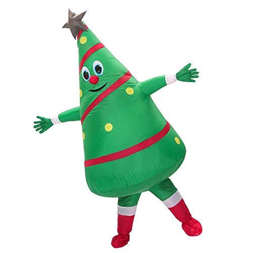 GDCB Albero di Natale gonfiabile Costume Blow up Fancy Dress Costume Abiti Body Suit con ventilatore per la festa di Natale Cosplay Party Parade