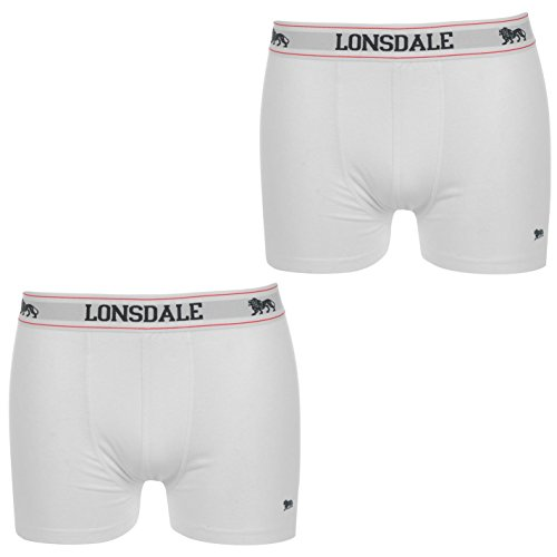 2 x LONSDALE heren boxershorts Trunk Boxer Shorts Wit