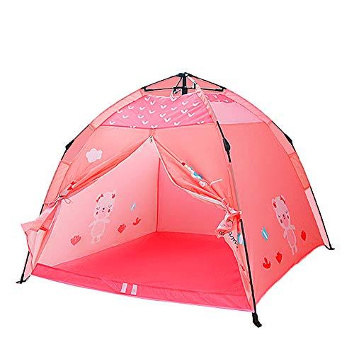 WZXX Faltbare Kinder Zelt, Tragbare Cartoontent Mehrzweck Baby Kinder Spielhaus Für Innen Strand Außenspiele Haus Garten Geburtstag Geschenke,Rosa