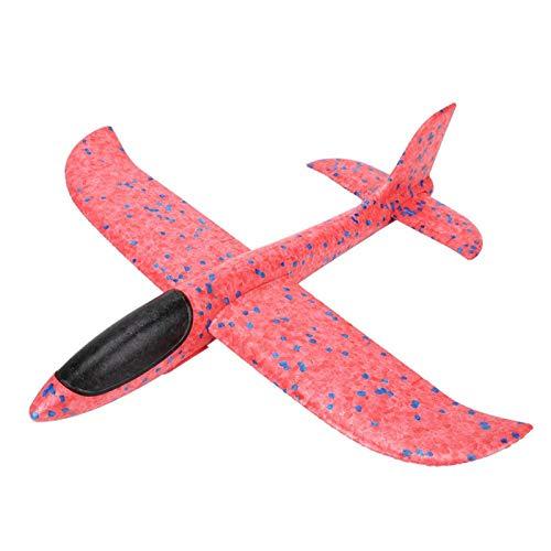 Couleur Lumineuse de Coin Rond Aucun Jouet de Planeur de Jet Pointu, pour Le Jeu extérieur d'enfants(Red)