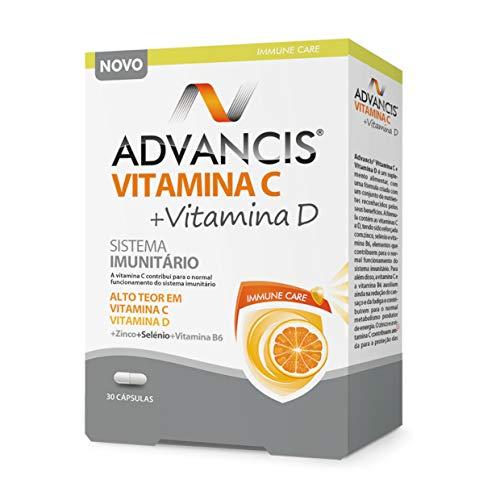 Advancis Vitamina C + Vitamina D 30 Cápsulas