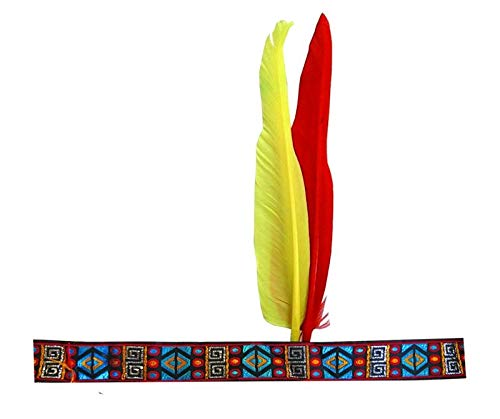 P 'Tit Payaso 18640Diadema Indio 2Plumas, Multicolor