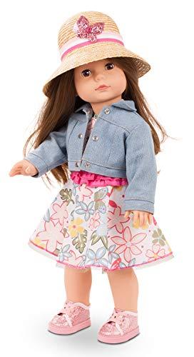 Götz 2190321 Precious Day Girls Elisabeth Minimaxi Puppe - 46 cm große Stehpuppe mit braunen Haaren, braune Schlafaugen in 8-teiligem Set