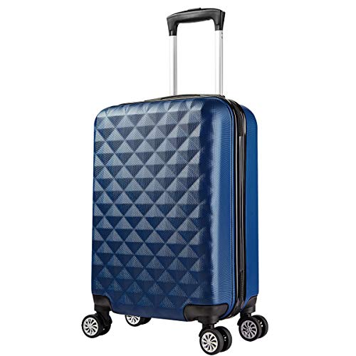 PARTYPRINCE - Trolley in ABS Bagaglio a Mano 55cm Valigia Rigida e Leggera con 4 Ruote - Approvata a bordo cabina Ryanair, Easyjet, Alitalia, Lufthansa, Volotea, Vueling e altre