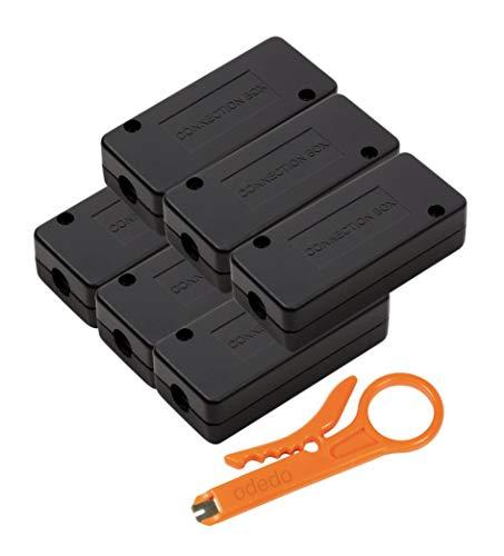 odedo® Set LSA Verbindungsmodul inkl. Auflegewerkzeug für Cat 5, Cat 6, Cat 6A, Cat 7, LSA Verbinder zum Reparieren, Verlängern von Netzwerkkabel und Verlegekabeln, Connection Box, Metallisiert (6)