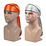 Soft Durag (2PCS/3PCS) with Extra Long Tail and Wide Straps Headwrap Du-Rag for 360 Waves