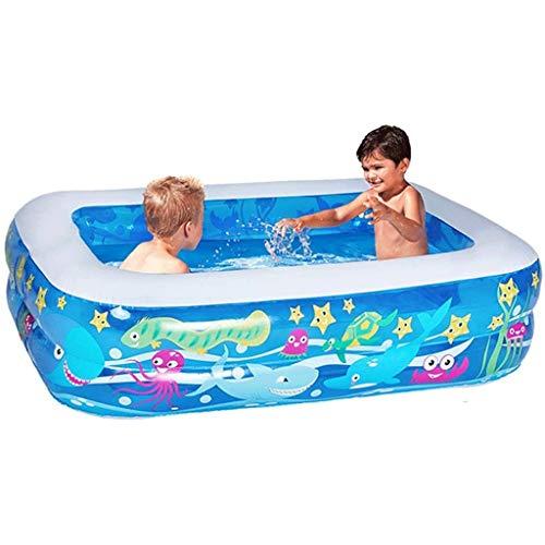 NXYJD Color Azul Inflable Bañera de plástico Plegable portátil bañera SPA Bañera Bañera de hidromasaje Inicio Equipo con Bomba de Aire