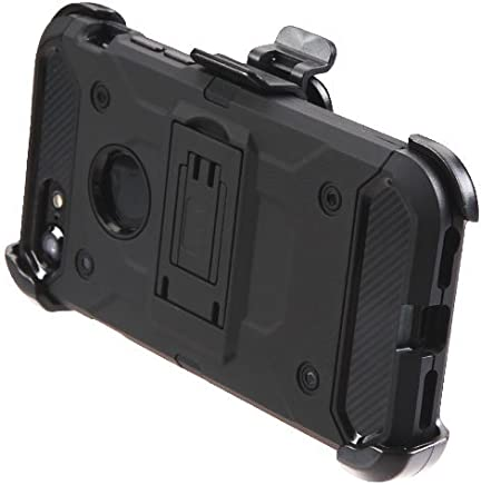 DreamWireless Funda con Clip Triple Protector de Plástico para iPhone 7 / iPhone 8, Color Negro