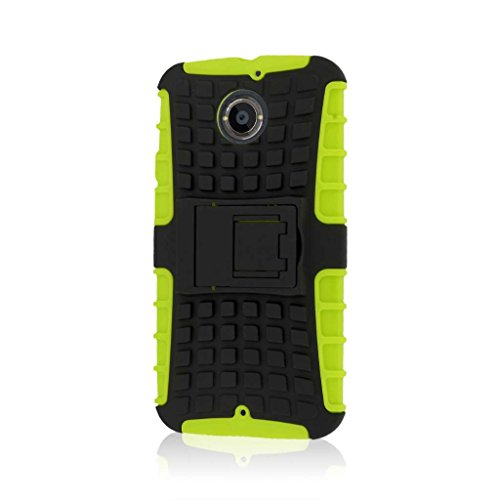 Moto X 2nd Gen Case, MPERO Impact SR Series Kickstand Case for Motorola Moto X XT1096 (2nd Gen 2014) - Neon Green