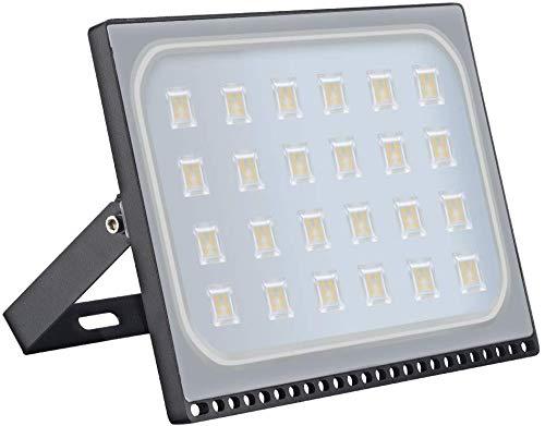 150W LED Strahler,LED Strahler Außen, Superhell 12000LM LED Scheiwerfer, 3200k, IP67 Wasserfest, Außenstrahler Hervorragend für Hinterhof,Auffahrt, Türen, Garage, Flur, Garten,Viugreum