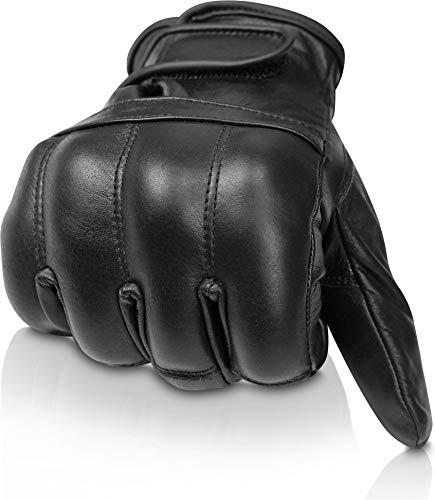 normani Security Quarzsandhandschuhe aus echtem Leder Farbe Fleece/Schwarz Größe L