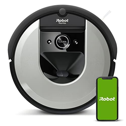 Robot aspirador Wi-Fi iRobot Roomba i7156 - Cepillos goma multisuperficie - Mapea y se adapta al hogar - Reconoce objetos - Sugerencias personalizadas - Compatible asistente voz - Coordinación Imprint