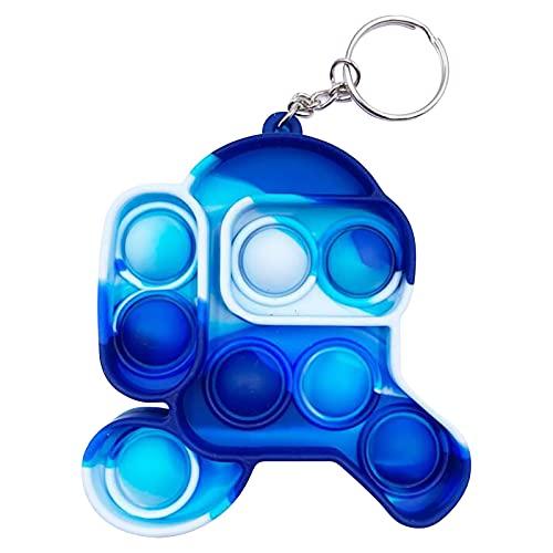 Rpporm Push Pop Bubble Fidget Sensory Schlüsselband Toys, Anti Stress Und Angst Zappeln Schlüsselanhänger Spielzeug Set Schlüsselringe Toy Für Kinder und Erwachsene