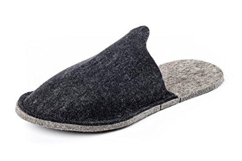 Orthopant Gästepantoffel - Hausschuhe Pantoffel aus naturreinem Filz für kuschelige Wärme und Wohlbefinden - GA-400-XL