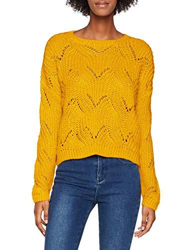 ONLY Damen 15187600 ONLHAVANA L/S PULLOVER KNT NOOS, Gelb (Golden Yellow), XS