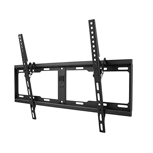 One For All TV-Wandhalterung - Neigbar Fernseher Halterung - Curved 4K OLED QLED LED Flachbildfernseher - 32 bis 84 Zoll - VESA 100x100 bis 600x400 - 10 Jahre Garantie - max. 100 kg - Schwarz – WM4621