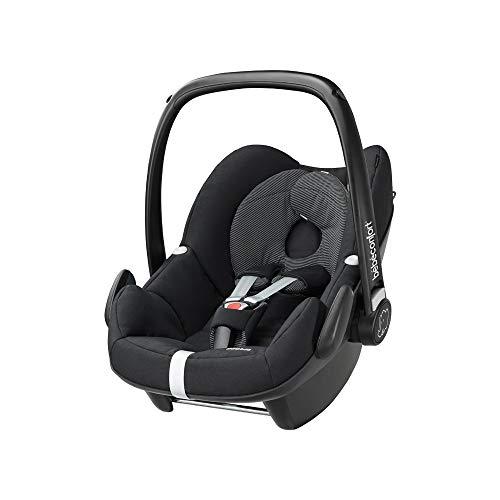 Bébé Confort Pebble, Cosi pour Bébé, Siège Auto Groupe 0+, Naissance à 12 mois, 0 à 13 kg, Black Raven