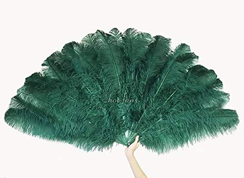 Forest green 3 Layers Ostrich Excellence Feather 65