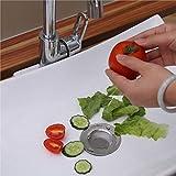 Acero inoxidable Durable Cocina Baño Cuenca de agua Disposer Fregadero de Suelo Filtro de Desagüe Tapón