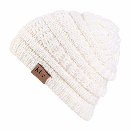 OHQ Sombrero Boy Girls Warm Crochet Invierno Lana Punto Esquí Beanie Skull Slouchy Gorras Sombrero Seco Gorra De Beisbol Tapa De Malla