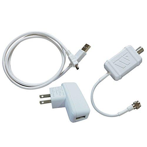 Winegard LNA-100 Boost TV Antenna Amplifier, HDTV Signal Booster, HD Digital VHF UHF Amplifier, Indoor HDTV Ultra Low Noise Amp (USB Power Supply)