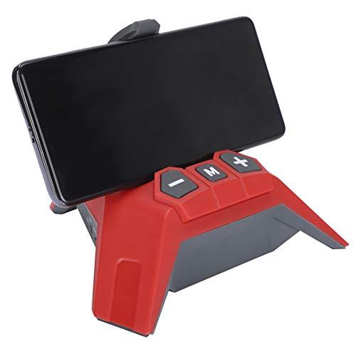 wendeekun Altavoces Bluetooth inalámbricos portátiles, 5 en 1 Altavoz Bluetooth multifunción Soporte para Banco de energía Tarjeta enchufable Cable de Audio USB con Soporte para teléfono móvil(Rojo)