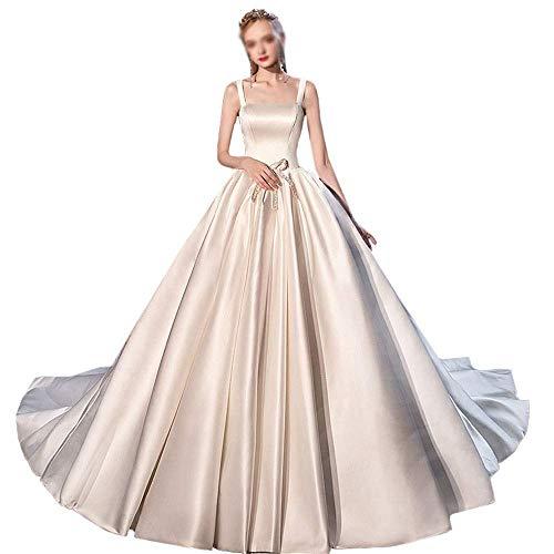 Señoras Satén Malla Fina Encantadora Falda de Hombro Novia Vestido de Novia...