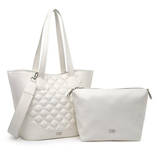 collezione alessandro Tracolla XL elegantemente alla moda, borsa a spalla 2 in 1, circa 45x30x16,5 - borsa trapuntata