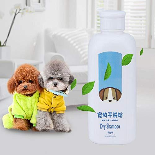 Champú en polvo para mascotas, fragancia única, no tóxico, almidón vegetal natural, para prevenir enfermedades de la piel de las mascotas