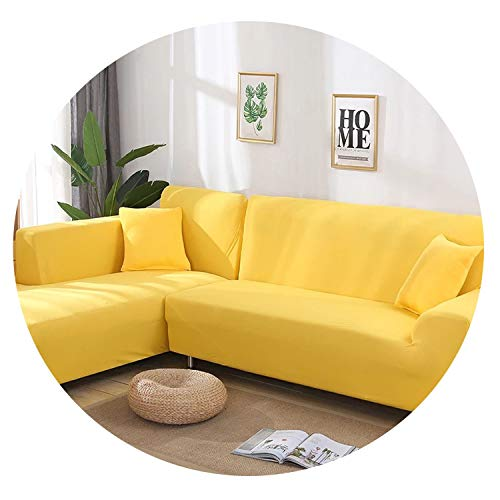 Old street 2 pcs Covers for L Shape Sofa Universal Stretch Fabric Solid Color Corner Couch Elastic Anti-ash Decor Resistant Sofa Slipcover,11,2seater and 3seater