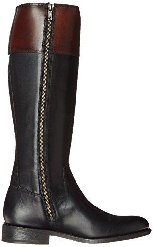FRYE Women's Jayden Button Tall-SMVLE Riding Boot, Black/Multi, 8 M US