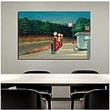 sjkkad Edward Hopper Tankstelle Wandkunst Leinwand Malerei