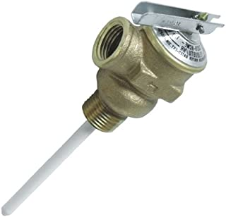"""Camco 10423 1/2"""" Temperature and Pressure Relief Valve with 4"""" Epoxy-Coated Probe"""