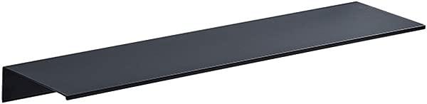 展威浴室货架梳妆台壁挂式太空铝淋浴组织者黑色浮动货架 4 种尺寸颜色黑色尺寸 400x120x 40毫米