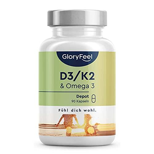 Vitamin D3 + K2 + Omega 3 - Premium: K2VITAL® von Kappa - 99,7+{3935c4bc382f990df85fcef8f2821b7c780eb7c95215c3dfecb2dbfdd4ee1104} All-Trans Vitamin K2 - Omega 3 Fischöl in Triglycerid Form und hochbioverfügbares D3 - Laborgeprüft ohne Zusätze