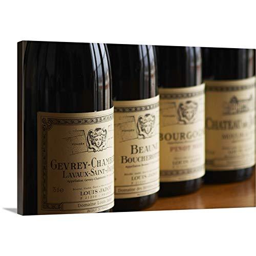 GREATBIGCANVAS Burgundy Wine from Maison Louis Jadot Canvas Wall Art Print, Home Decor Artwork, 18