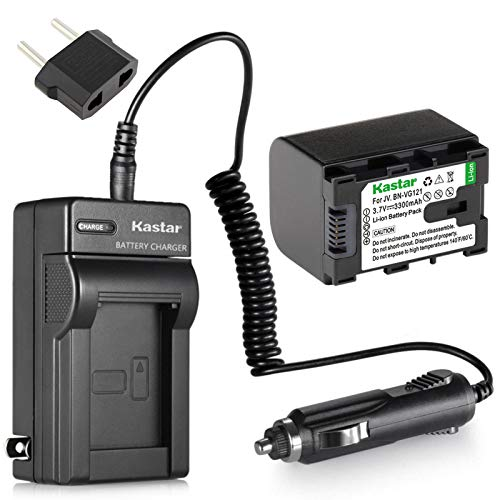 Kastar Battery and Charger Replacement for JVC Everio GZ-HM35BU, GZ-HM40BU, GZ-HM50BU Flash Memory Camcorder