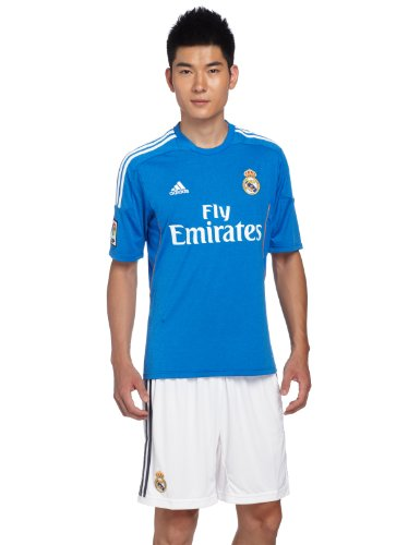 Real Madrid C.F. Adidas Camiseta de fútbol Infantil, 2ª equipación, 2013-14, Color Azul, Talla XXL