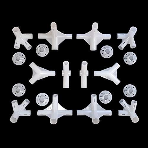 greitapigu.lt 20x stück Ersatzteile Gartenpavillon Eckverbinder für 3x9m Pavillon 25/19/19mm Eckstück Gartenlaube