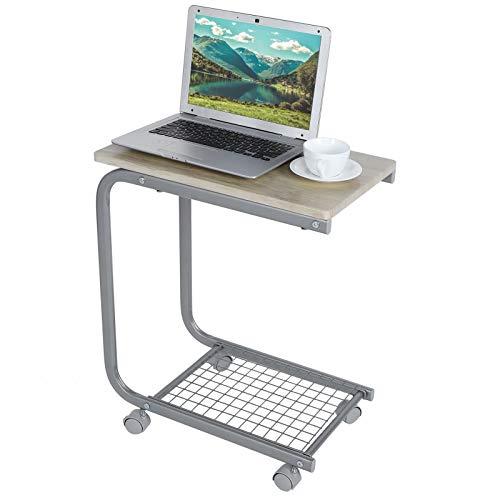 Cocoarm Tavolino Tavolino Tavolino Tavolino Tavolino Mobile Tavolino portacomputer con Ruote Tavolino da Salotto per Soggiorno, Camera da Letto(Acero)